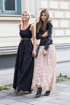 Combine maxi skirt: how to wear the floor-length skirts properly! - Combine maxi skirt: how to wear the floor-length skirts properly! Fashion Mode, Look Fashion, Autumn Fashion, Womens Fashion, Fashion Trends, Net Fashion, Couture Fashion, Street Fashion, Komplette Outfits
