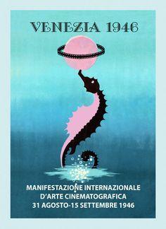 Film Fest 1946 Venezia Venice Seahorse Movie by HeritagePosters