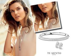 Inspiration! A shimmering bracelet, elegant earrings and a long necklace. The perfect way to upgrade your outfit. Show us what you wear with  #tisento