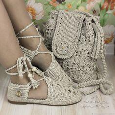 Льняные сандали и сумка комплект – купить или заказать в интернет-магазине на Ярмарке Мастеров | Прекрасный комплект для лета в стиле Бохо - …