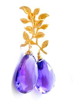 Purple Amethyst earrings are part of our Fall/Winter jewelry collection. Purple Jewelry, Amethyst Jewelry, Amethyst Earrings, Gemstone Jewelry, Jewelry Box, Jewelery, Royal Jewelry, Purple Love, Dark Purple