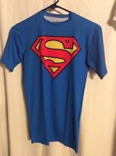 New Men's Superman Under Armour HeatGear Alter Ego Compression T-Shirt Size M