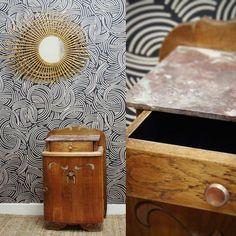 Table de chevet art déco restaurée