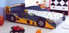 Camas infantiles en forma de automóvil - http://www.decoora.com/camas-infantiles-en-forma-de-automovil.html