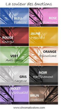 D'une importance capitale sur notre comportement, les couleurs sont chargées d'une forte valeur émotionnelle. www.chromaticstore.com #couleur #psychologie