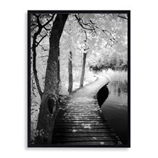 "Take a Walk Wall Art      Bring a sense of serenity into your home with this canvas giclee hand embellished by artist Ilona Wellmann. A winding path ambles along the water and into a wooded sanctuary. Hand stretched on a wood frame, art's black molding is a subtle yet perfect finishing touch. Measures 34"" W x 42"" L."