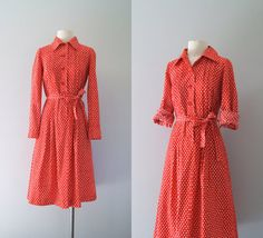 70s dress / 1970s Marimekko shirt dress / by VacationVintage, $168.00