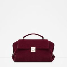 Image 1 of LEATHER CITY BAG from Zara