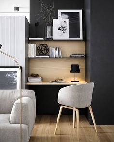 Decor Home Office Design Ideas. Thus, the need for home offices.Whether you are planning on adding a home office or renovating an old room into one, right here are some brilliant home office design ideas to aid you get going. Decor, House Design, Home Office Decor, Interior, Home, Office Interiors, House Interior, Interior Design, Minimalist Home