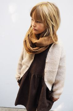 Toddler girl winter fashion style// cardigan + scarf