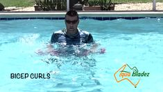 World's best portable water fitness equipment! Aqua Bladez is challenging traditional fitness training and the pool. The best set of aqua dumbbells on the ma. Pool Workout, Workout Gear, Workouts, Aqua, Water Aerobics, Wednesday Workout, Fitness Nutrition, No Equipment Workout, Biceps