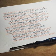 Lovely pointed pen take on uncial from https://www.instagram.com/thundy84/ #uncial #UncialScript #calligraphy