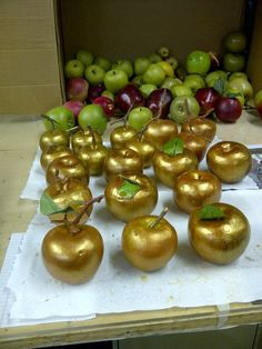 Take a tip from Biltmore's Floral Design department. Add some gold spray-paint to make faux apples worthy of any holiday arrangement.