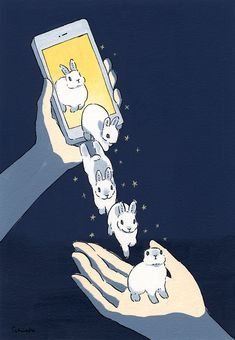 Acrylic Paint by Schinako Moriyama. Schinako Moriyama is an illustrator as bunny art from Fukushima, Japan Continue reading and for more Acrylic art→View Website Art And Illustration, Character Illustration, Illustrations, Rabbit Illustration, Bunny Drawing, Bunny Art, Cute Drawings, Animal Drawings, Character Concept