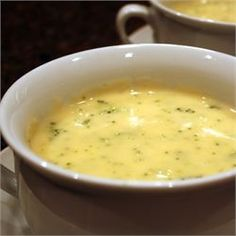 Broccoli Cheese Soup - Allrecipes.com made this for the family tonight and it was a huge hit. Will definitely make it again.