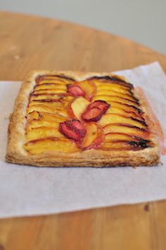 whisk. write. repeat.: strawberry-nectarine puff-pastry galette