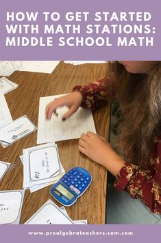 Math Stations for your Middle School Math Classroom Education-Prealgebra Middle School Math If you t Math Stations, Math Centers, Math Classroom, Classroom Resources, Teacher Resources, Classroom Ideas, Teaching Math, Math Teacher, Teaching Tips