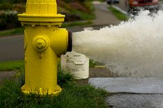 Gushing Fire hydrant