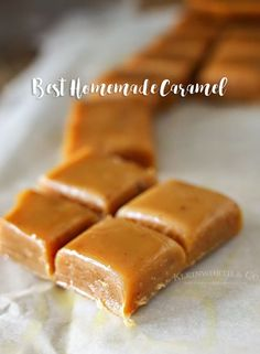 Homemade Caramel RECIPE is perfect for making caramel apples & all your favorite fall treats & desserts. It's incredibly easy & ready in about 30 min. It truly is THE BEST homemade caramel recipe around. Homemade Caramel Recipes, Homemade Candies, Homemade Desserts, Baked Pumpkin, Pumpkin Bread, Pumpkin Yogurt, Pumpkin Cookies, Candy Recipes, Dessert Recipes