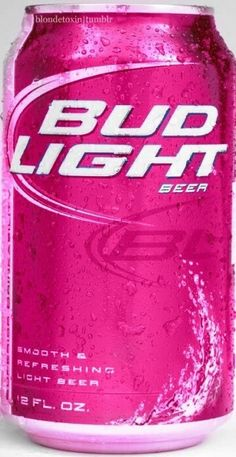Pink Budlight! I wish they sold these at the store!