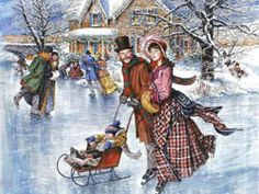 Old Fashion Christmas Wallpaper | AN OLD FASHIONEDCHRISTMAS SKATE