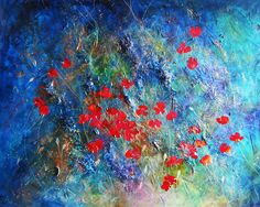 A ONE-OF-A-KIND Original art work, Hand-painted in mixed media on canvas & Hand-signed by the artist, freshly direct from the studio. Absolutely UNIQUE.  Title: Field of Poppies  Size: Measures 48X60  Year of Work: 2011  Medium: acrylic and mixed media, will be shipped STRETCHED, sides painted, staples on back, ready to hang without outer frame  Actual Picture: Yes. The pictures here show the actual painting you will receive.   ABOUT THE ARTIST:  My work as an artist comes from a close ob...