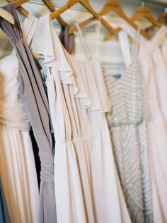 Mix-and-match bridesmaids dresses: http://www.stylemepretty.com/little-black-book-blog/2015/02/06/elegant-wedding-at-saddle-cycle-club/ | Photography: Kate Ignatowski - http://www.kateignatowski.com/