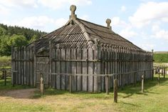 Reconstruction of a slavic temple from the 9th century in Groß Raden (Mecklenburg-Western Pomerania, North East Germany)