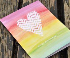 Love card {Watercolor Heart}