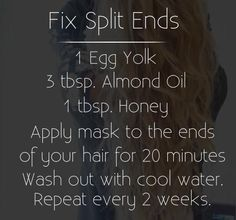 Fix your split ends and damaged hair with this protein rich mash using egg whites and honey