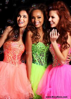 We LOVE these Adorable Jeweled Short Prom Dresses with a Sweetheart Neckline in Coral Hot Pink and Lime - 2013 Prom Dress - Sherri Hill 21101 - RissyRoos.com
