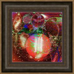 Multi-dimensional Framed Print featuring the digital art Light Of Man Multidimentional Sight by Joseph Mosley