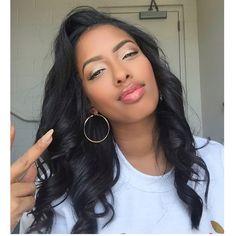 . Long Relaxed Hair, Natural Straight Hair, Natural Hair Styles, Long Hair Styles, Cute Hairstyles, Straight Hairstyles, Black Hairstyles, Mixed Hair, Unique Makeup