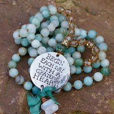 Boho long necklace Chakra beads beach inspired by Mollymoojewels