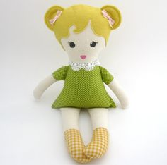 Plush doll rag doll READY TO SHIP by aprilfoss on Etsy,.00