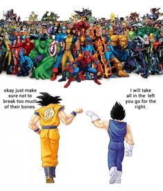 DBZ Vs. Marvel // funny pictures - funny photos - funny images - funny pics - funny quotes - #lol #humor #funnypictures