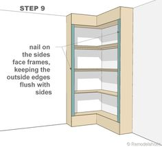 1000 images about diy corner bookshelves on pinterest for Build your own corner bookcase