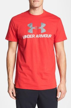 Under Armour Moisture Wicking Logo T-Shirt | $25 | gifts for the sporty guy | mens t-shirt | sports | athletic | menswear | mens fashion | wantering http://www.wantering.com/mens-clothing-item/under-armour-moisture-wicking-logo-t-shirt/afO8u/
