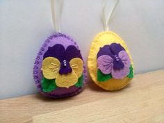 Decoración de Pascua de fieltro huevo con por DusiCrafts en Etsy