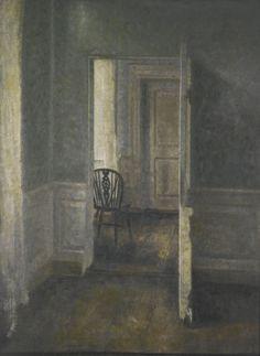 Vilhelm Hammershøi - Interior with windsor chair (1913).jpg