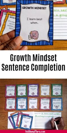 Growth Mindset Sentence Completion Activity to help children gain insight into their choices and actions when it comes to learning new things and facing challenges. This is a helpful tool for guiding children to develop a growth mindset as defined by psychologist Carol Dweck.   Great resource for counselors, social workers, parents, and educators. #growthmindset #schoolcounseling #education #positiveparenting #socialworkideas #schoolsocialwork #schoolpsychologist #CarolDweck Coping Skills Activities, Self Esteem Activities, Growth Mindset Activities, Counseling Activities, School Counseling, Therapy Activities, Career Education, Special Education, Positive Self Esteem