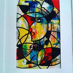 "Astratto dipinto COZZANI"" Mujer VIVA""  opera pregio olio n Aubertin Kostabi Baji"