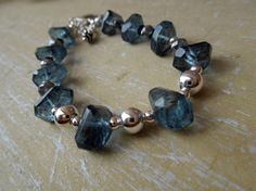 London Blue Topaz Fancy Nuggets Silver Labradorite by Gbydesign, $110.00