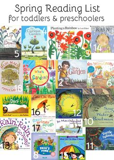 Spring Reading List for Toddlers and Preschoolers