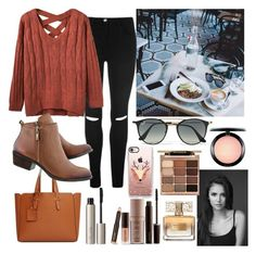 """""""Spending the afternoon in a Cafe with my sister."""" by duchessamparo ❤ liked on Polyvore featuring Violeta by Mango, Casetify, Ray-Ban, Ilia, MAC Cosmetics, Stila, Laura Mercier and Givenchy"""