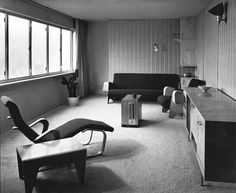 Marcel Breuer, interior design for the Dorothea Ventris Apartment, 1937. Highpoint in Highgate, London.