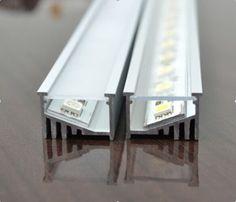 x x angled super wide LED strip recessed LED aluminum extrusi Cove Lighting, Indirect Lighting, Linear Lighting, Rustic Lighting, Strip Lighting, Interior Lighting, Lighting Design, Lighting Ideas, Kitchen Lighting
