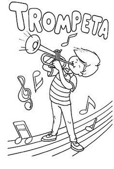 material de isaac para educacion especial fichas para pintar instrumentos musicales