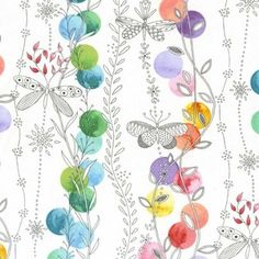 CURTAINS FOR MY STUDIO WOULD BE GORGEOUS FROM THIS PRINT - Tamara Kate - Flight Patterns - Patio Lights in Multi