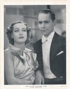 Mr. and Mrs. Franchot Tone  Joan Crawford  by NoPlaceLikeVintage